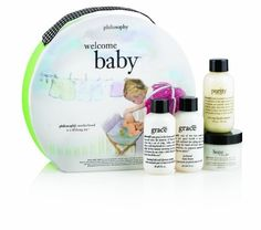 Philosophy Welcome Baby, 7-Ounce by Philosophy. $30.00. Best-selling cleanser and moisturizer; Simple way for mom to care for herself; Feel soap and water clean. featuring our best-selling facial cleanser and moisturizer as well as our soap and water clean fragrance, welcome baby was created to help a new mom care for her skin and her well-being. the set features purity made simple one-step facial cleanser 2 oz., hope in a jar original formula moisturizer for all skin types...
