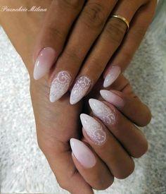 30 Wedding Nail Art For Brides Ideas - Kornelia Beauty French Nails, Bridal Nail Art, Wedding Nails Design, Lace Wedding Nails, Natural Wedding Nails, Bride Nails, Nagel Gel, Perfect Nails, Beauty Nails