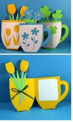 50 Awesome Spring Crafts for Kids Ideas - Bastelideen Kinder Diy Gifts For Mothers, Mothers Day Crafts For Kids, Spring Crafts For Kids, Crafts For Kids To Make, Mothers Day Cards, Gifts For Kids, Mum Gifts, Kids Diy, Happy Mothers