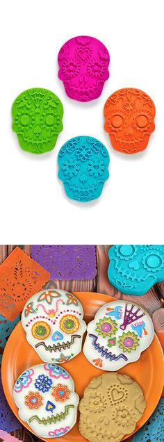 Sugar skulls cookie mold