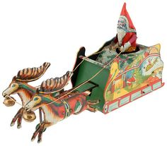 "SANTEE CLAUS"" BOXED TIN LITHO TOY"