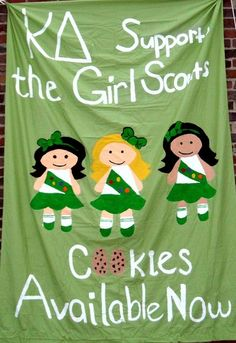KD Banner to help Girl Scouts sell cookies!