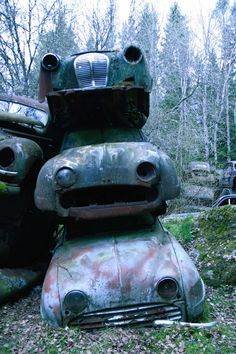 Nature Reclaiming Remote Swedish Junkyard and Bygone Cars - Photography by…
