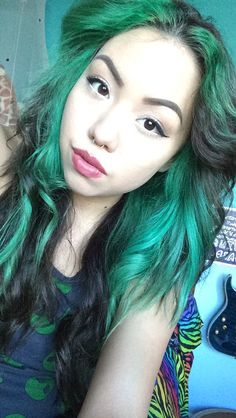 faded green and brown hair
