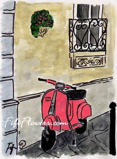 16. Own or ride a red Vespa