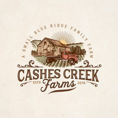 New logo and brand identify for Cashes Creek Farms-a boutique family farm Designers choose,Light neutrals,Blues,like the background and simple black font.,looking at a different idea using R 180 degrees (symbol) Agriculture by lindt88