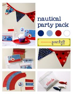 Nautical Party Decorations | friday finds: nautical | Handmade Party Ideas: did someone say party?