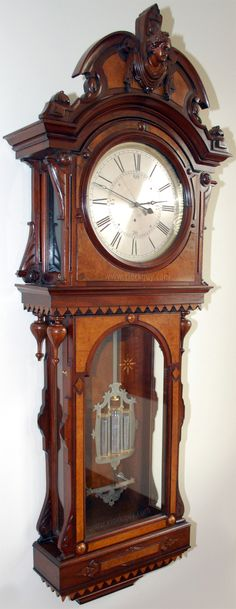 "Beautiful 27/"" Tall Sunbeam Westminster Chime Pendulum Quarts Wall Clock R=A"