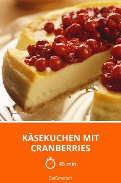 Käsekuchen mit Cranberries
