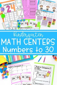When learning numbers in kindergarten, students will practice skills like counting and number recognition. These kindergarten math centers help students practice those early math skills with numbers to 30.