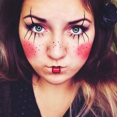 Fun clown makeup