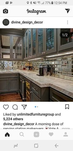 Mirror Backsplash Wall Murals Decorating Kitchen Kitchens Wallpaper Mural