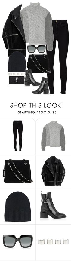 """Untitled #4100"" by lily-tubman ❤ liked on Polyvore featuring Frame, STELLA McCARTNEY, Chanel, H&M, Ann Demeulemeester, Jil Sander, Gucci, Maison Margiela and Yves Saint Laurent"