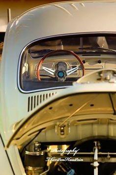 Vw beetle, Volante e Motor estilizados...