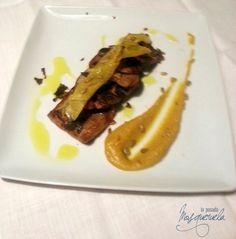 Paletilla de cordero a baja temperatura con aroma de azafrán y trufa melanosporum. Menú degustación de la trufa.