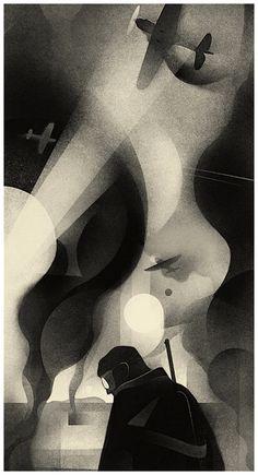 """The Nightmare"" Karolis Strautniekas 2015Detail of a larger illustration Minimal Art, Illustrations And Posters, Digital Illustration, Character Illustration, Graphic Illustration, Faber Castell, White Art, Vector Art, Graphic Design Inspiration"