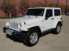 2012 Jeep Wrangler Sahara White http://www.iseecars.com/used-cars/2012-jeep-wrangler-for-sale#