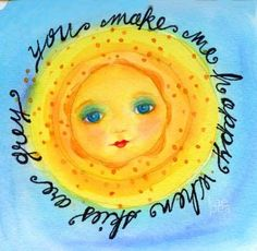 Kristen Powers Ink on imgfave Good Day Sunshine, You Are My Sunshine, Hello Sunshine, Sun Moon Stars, Sun And Stars, Pictures Of The Sun, Sun Designs, Sun Art, Mellow Yellow