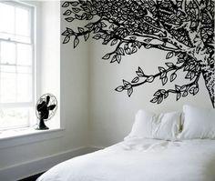 adesivo-arvore cabeceira cama
