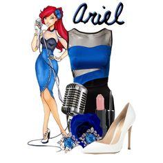 Modern Ariel by disneyice on Polyvore featuring Club L, Gianvito Rossi, DANNIJO, Stila, Disney and modern