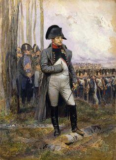 napoleon 1 er regardant defiler les grenadiers de la garde imperiale 1806