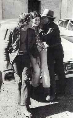 Kris Kristofferson, Rita Coolidge and Bob Dylan    Via watercreek, when you awake