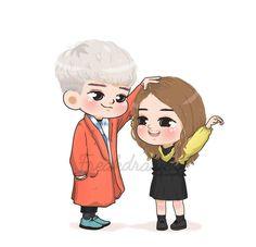 Anime Love Couple, Couple Cartoon, Cartoon Pics, Cute Cartoon Wallpapers, Cartoon Characters, Fanart, Kdrama Wallpaper, Art Qoutes, Popular Korean Drama