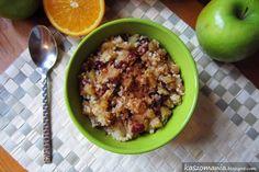 Kaszomania - pomysły na dania z kaszy jaglanej: Kasza jaglana z jabłkami, cynamonem, rodzynkami i żurawiną
