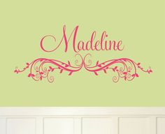 Baby Girl Wall Decal Nursery Name Wall Sticker by AllOnTheWall, $22.00
