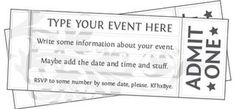 Free Printable Event Ticket Templates | Free Printables Online | Bloglovin'
