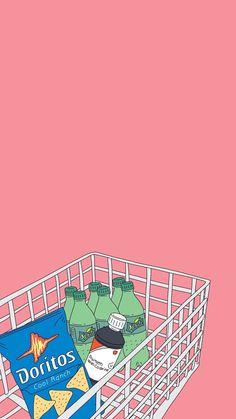 Iphone Wallpaper - Bild - Wallpaper World Kawaii Wallpaper, Tumblr Wallpaper, Wallpaper Iphone Cute, Screen Wallpaper, Cartoon Wallpaper, Cute Wallpapers, Wallpaper Backgrounds, Phone Backgrounds Tumblr, Aesthetic Pastel Wallpaper
