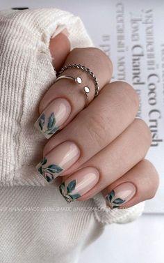 Cute Spring Nails, Cute Nails, Pretty Nails, Cute Nail Art Designs, Modern Nails, French Tip Nails, French Tips, Chrome Nails, Gold Chrome