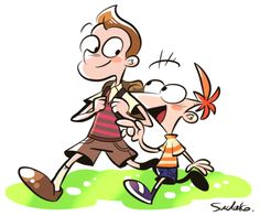 Milo and Phineas :) Disney Love, Disney Art, Disney Pixar, Phineas And Ferb Memes, Doodle Box, Milo Murphys Law, Murphy Law, Love Milo, Cartoon Crossovers