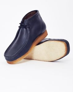 Clarks Originals Leather Wallabee Boot Navy £119.90 | Shop Now at TheIdleMan.com | #StyleMadeEasy