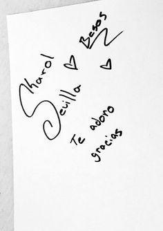 Karol me dio su autografo Son Luna, Dio, Math, Frases, Sevilla, Photos Tumblr, Display, Crafting, Math Resources