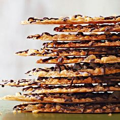 Lacy Florentines. These delicate, candylike cookies are first cooked in a saucepan, then baked until golden and crispy.  48 mins