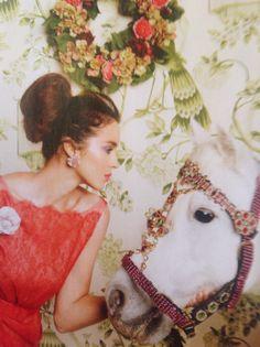 Red dress. Wallpaper