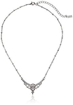 """Downton Abbey """"Jet Memento Boxed"""" Edwardian Statement Jet Baguette Pendant Necklace, 16"""" -- You can get additional details at the image link."""