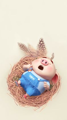 This Little Piggy, My Little Baby, Little Pigs, Pig Wallpaper, Funny Phone Wallpaper, Cute Piglets, 3d Art, Pig Drawing, Pig Illustration