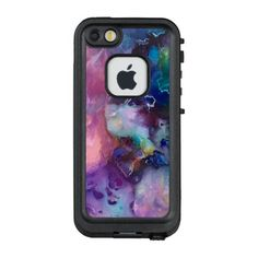 Ink colorful purple gold texture pattern paint LifeProof FRĒ iPhone SE/5/5s case on zazzle.com for ($96.50). LifeProof® case! WaterProof, DirtProof and DropProof-For Apple iPhone SE/5/5s-360 degree coverage, integrated scratch protector-audio adaptor included-Optical-glass lens cover-Sound enhancement system -WaterProof design: Submersible to 6.6 ft. for 1 hour-DirtProof design: -SnowProof design: Closed to ice and snow-DropProof design: Survives drops from up to 6.6 ft.