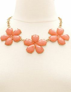 Floral Beaded Statement Necklace: Charlotte Russe