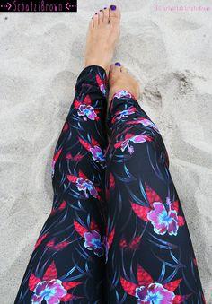 LEGGING  LEILANI' Style Legging for SURF  Yoga by SchatziBrown