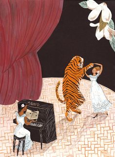 The Tiger Dancer A4 Archival Art Print by emmablock on Etsy, £16.00 #EmmaBlock
