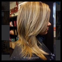 Blonde balayage sombre highlights