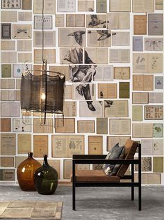 Overview This collection comprises old books on which large paintings have been painted, ultimately resulting in 7 designs (5 murals and 2 wallpaper rolls). The middle of this wallpaper is a mural of