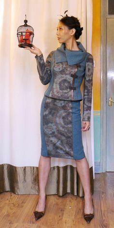 Reversible Moto Jacket & Pencil Skirt - AA side made with #MoodFabrics
