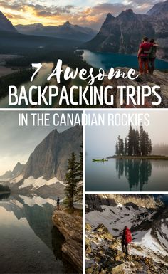 Information about the best multi-day hikes and trips in the Canadian Rockies. Including Mount Assiniboine The Berg Lake Trail The Rockwall Trail The Skyline Trail The Tonquin Valley Maligne Lake & Spirit Island and Lake O'Hara. Backpacking Trails, Hiking Trails, Backpacking Canada, Canada Day, Nova Scotia, Vancouver, Voyage Canada, Road Trip, Canadian Rockies
