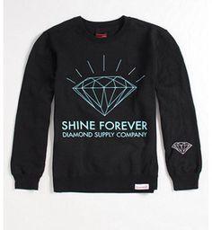 a53f1e64b Diamond Supply Co Shine Forever Logo Crew Fleece