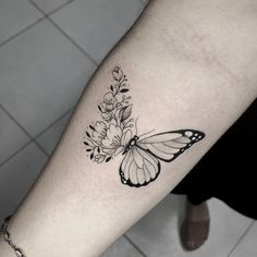 Purple Butterfly Tattoo, Butterfly Tattoos For Women, Butterfly Tattoo Designs, Tattoo Designs For Women, Butterfly Tattoo Meaning, Butterfly Shoulder Tattoo, Unique Tattoos For Women, Tatoo Designs, Monarch Butterfly