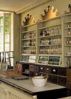 Apothecary jars showcase